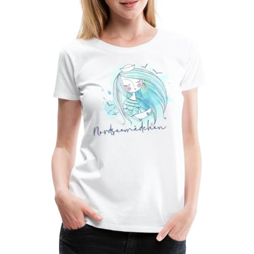 Nordseemädchen Papierboot - Frauen Premium T-Shirt
