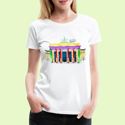 Neu! Brandenburger Tor/BerlinLightShow Collection - Frauen Premium T-Shirt