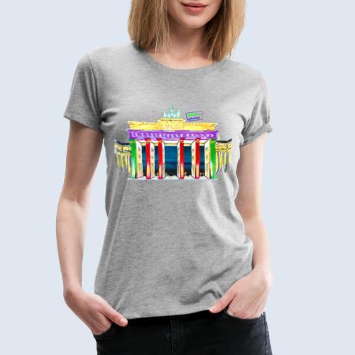 Neu! Brandenburger Tor/BerlinLightShow Collection - Frauen Premium T-Shirt