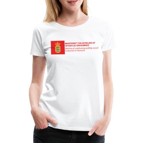 MINISTERIET FOR AFVIKLING AF OFFENTLIG VIRKSOMHED - Dame premium T-shirt