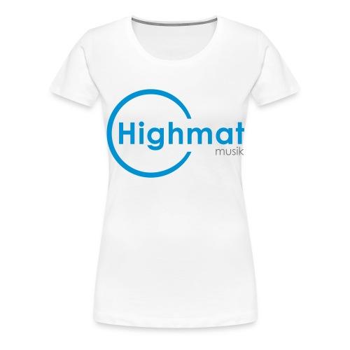 Highmatmusik Logo Shirt *SlimFit* - Frauen Premium T-Shirt