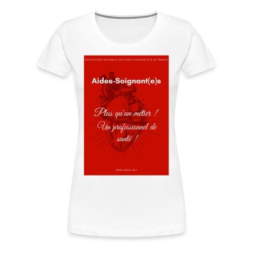 Association Nationale des aides soignant e s de fr - T-shirt Premium Femme