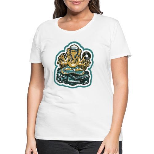 Elefant Ganesha Logo - Dame premium T-shirt