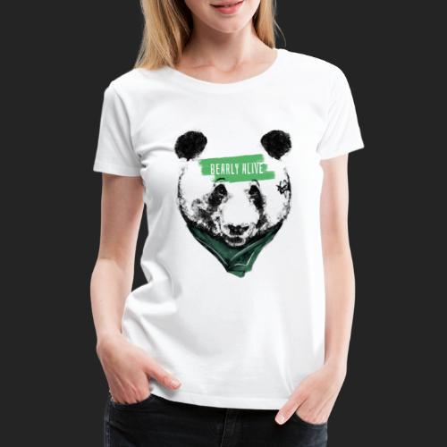 Panda bearly alive - T-shirt Premium Femme