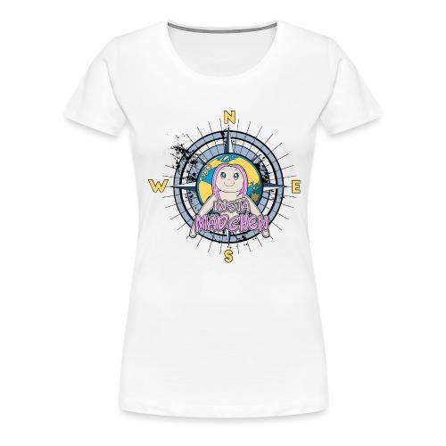 InstaMädchen Kompass - Frauen Premium T-Shirt