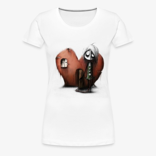empty heart - Frauen Premium T-Shirt