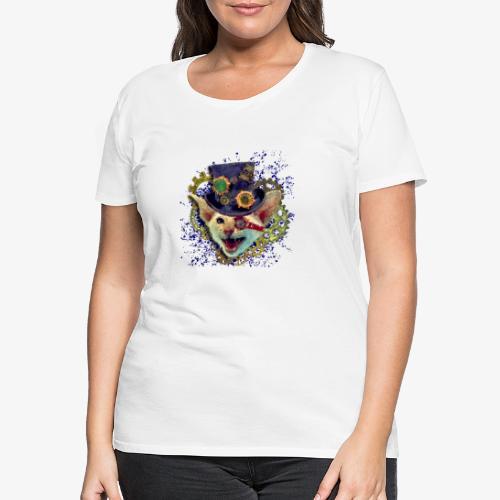 Steampunk Katze - Frauen Premium T-Shirt