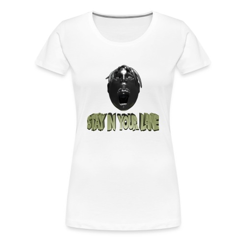 Stay in your line Design mit Kopf - Frauen Premium T-Shirt