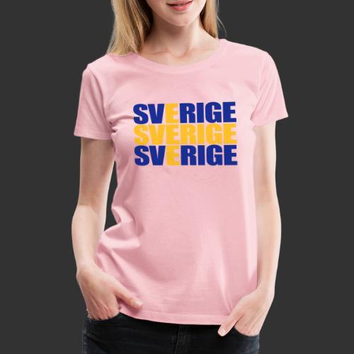 SVERIGE flaggtext - Premium-T-shirt dam