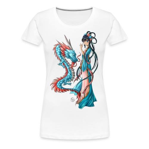 Blue Dragon - T-shirt Premium Femme