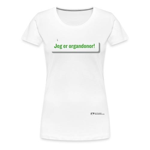 SO logo liggende sort - Premium T-skjorte for kvinner