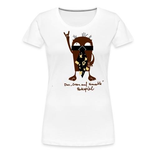Essen auf Deiner Krawatte - Frauen Premium T-Shirt