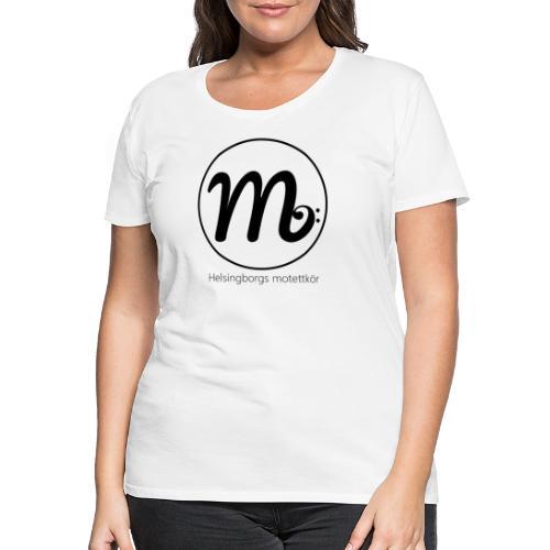 Svart logga med text - Premium-T-shirt dam