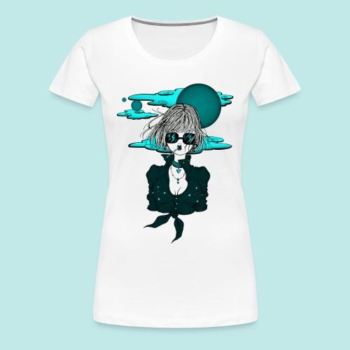 Femme manga rock avec lunettes de soleil - T-shirt Premium Femme