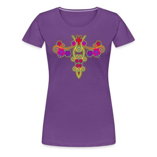 Hibiscus Spiralen - Frauen Premium T-Shirt