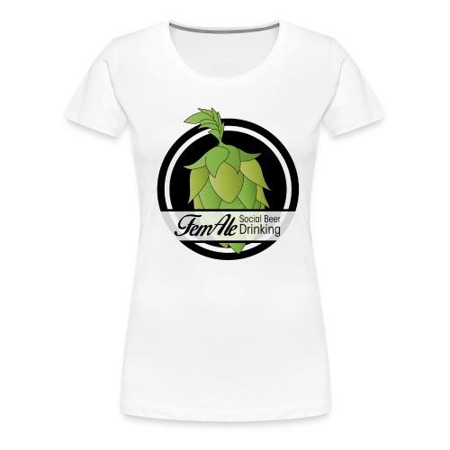 FemAle logo svart png - Premium-T-shirt dam