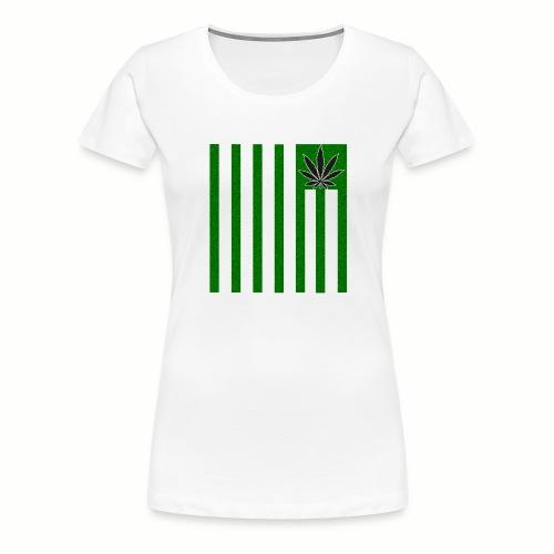 Cannabis Stripes - Frauen Premium T-Shirt