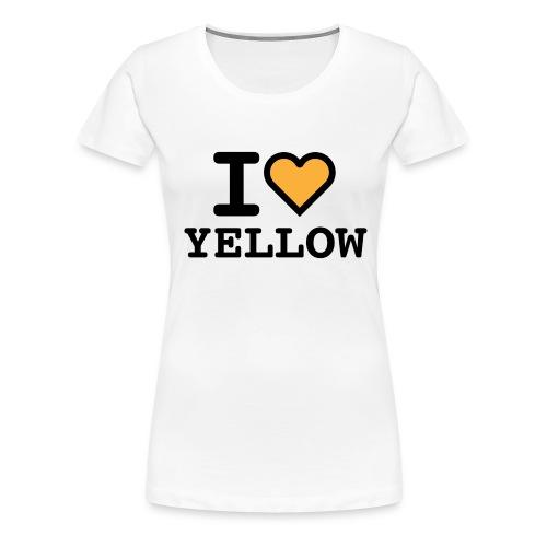 I love yellow - Maglietta Premium da donna