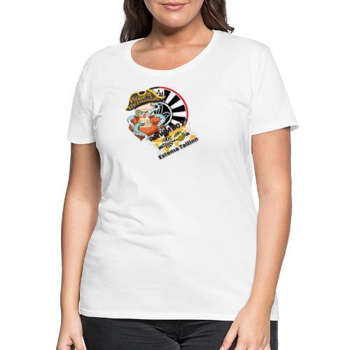 pirate of the estonian back - Frauen Premium T-Shirt