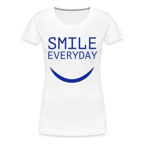 smile everyday - Frauen Premium T-Shirt