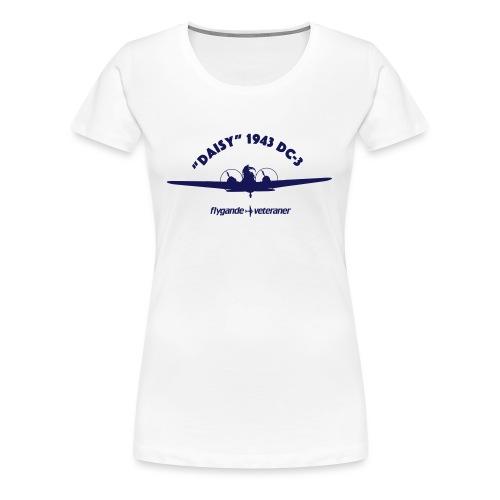 Daisy front silhouette 1 - Premium-T-shirt dam