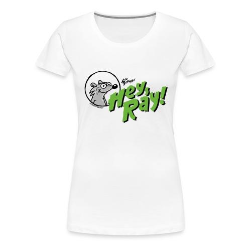 Hey Ray Logo green - Frauen Premium T-Shirt