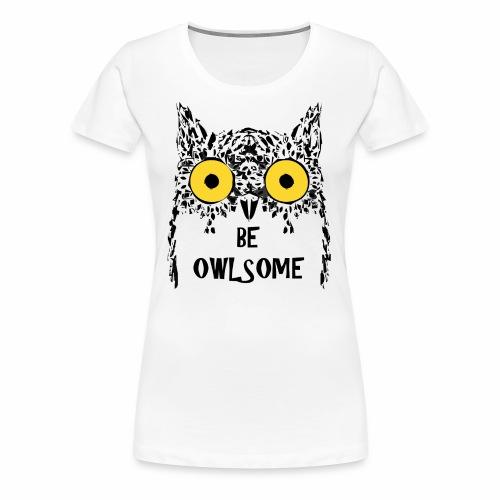 Buho gracioso - Camiseta premium mujer