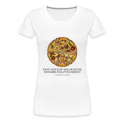 Ernährungspyramide aus Pizza - Frauen Premium T-Shirt