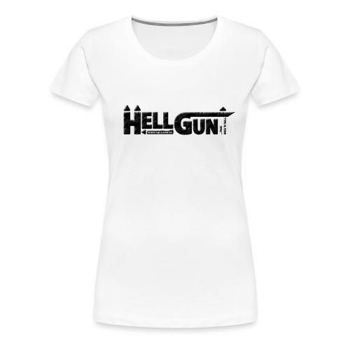 HELLGUN logo 2014 schwarz png - Frauen Premium T-Shirt
