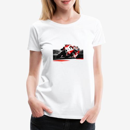 DM t shirt superbike red moto artwork png - T-shirt Premium Femme
