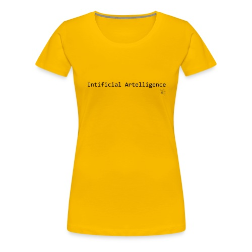 Intificial Artelligence Black png - Women's Premium T-Shirt