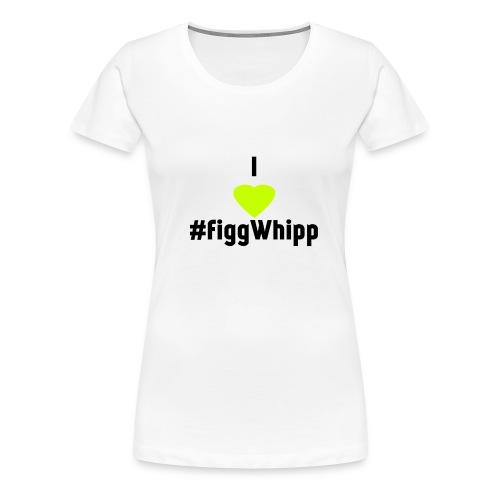 I heart figgwhipp black - Premium-T-shirt dam