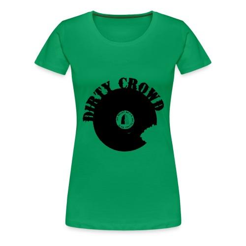 DC LOGO SVART - Premium-T-shirt dam