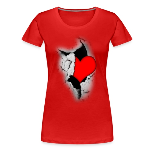 Heart from a crack - Naisten premium t-paita