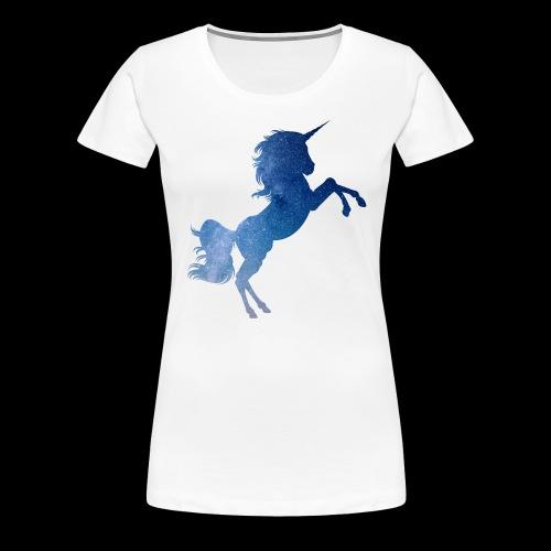 Galaxy Unicorn - Blue - Frauen Premium T-Shirt