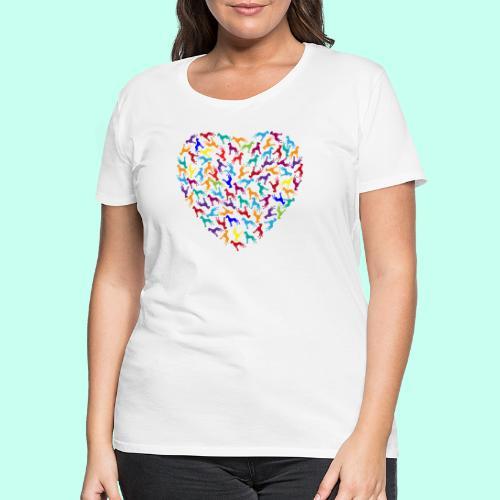 Doggen Herzensdame - Frauen Premium T-Shirt