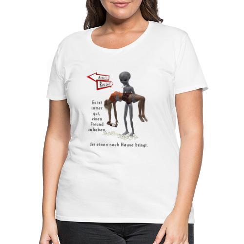 Grey Alien - Frauen Premium T-Shirt