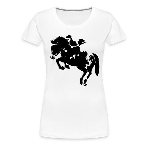 springreiter_pferd - Frauen Premium T-Shirt