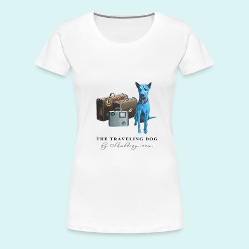 Laly Blue Big - Women's Premium T-Shirt