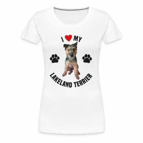 I heart my lakeland terri - Women's Premium T-Shirt