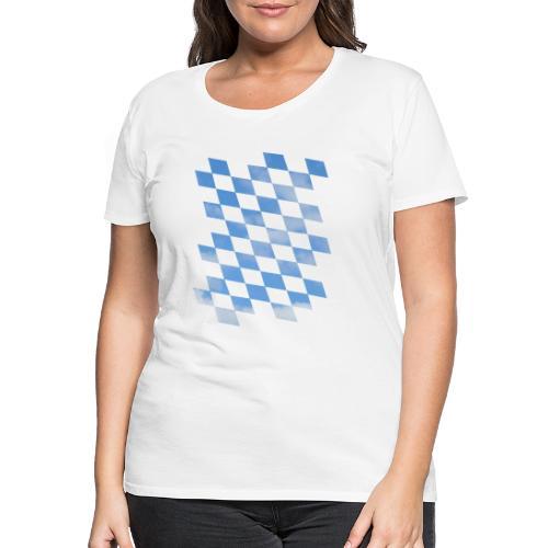 Himmlische Bayern Rauten Bayerische Fahne - Frauen Premium T-Shirt