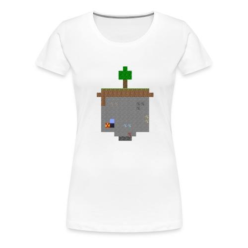 Minecraft World Querschnitt - Frauen Premium T-Shirt
