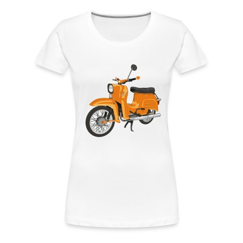 schwalbe in orange - Frauen Premium T-Shirt