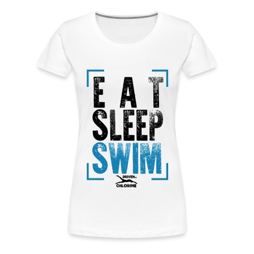 eat - sleep - swim - Frauen Premium T-Shirt