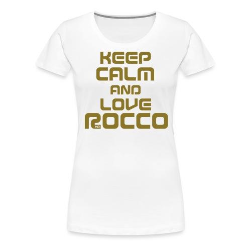 Keep Calm (Rocco) - Frauen Premium T-Shirt