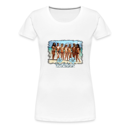 StrandWärmer_Bikini_Crew - Frauen Premium T-Shirt