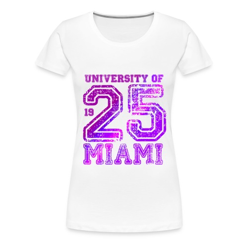miami25pink png - Frauen Premium T-Shirt