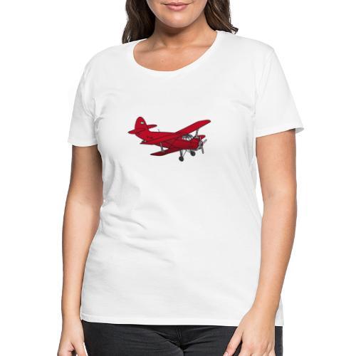 Doppeldecker Flieger rot - Frauen Premium T-Shirt