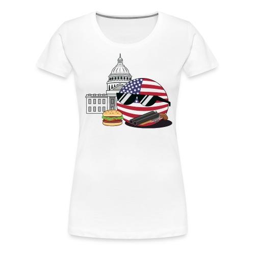 UnitedStatesBall - Women's Premium T-Shirt