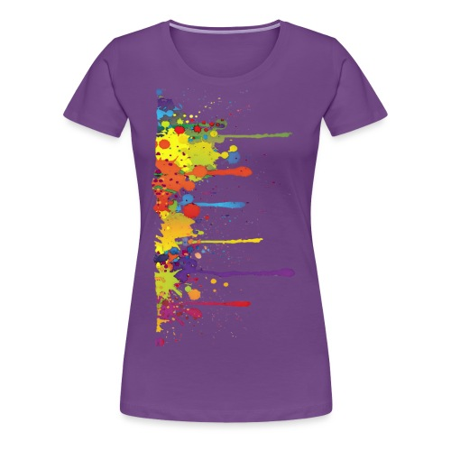 Klecks Malerei / Splat Painting - Frauen Premium T-Shirt